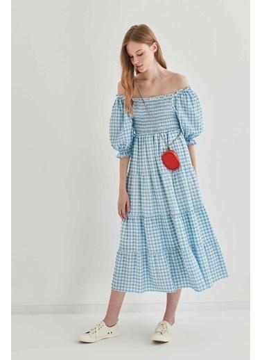 Vitrin Pötikare Gipeli Uzun Country Elbise Mavi